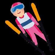 スキージャンプのイラスト